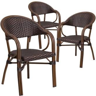 Shelie Rattan Restaurant Patio Arm Chair Bayou Breeze