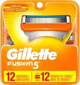 Gillette Fusion Manual Men's Razor Blade Refills 12 Count