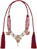 Gucci Cord necklace with metal flowers