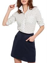 Joules Carole Tweed Mini Skirt, Navy Tweed