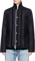 Sacai Ribbon appliqué wool melton coach jacket