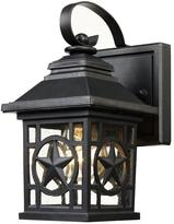 Laredo Texas Star Outdoor Black Wall Lantern