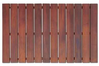 Rollfloor 2 ft. x 3 ft. bathroom rugs - non-slip wood mats (brown)