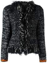 Giambattista Valli frayed seam jacket