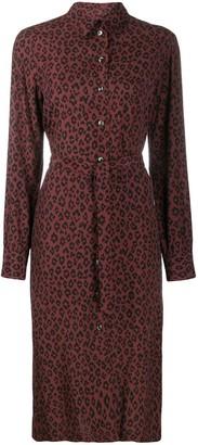 A.P.C. Leopard Print Shirt Dress