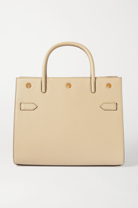 Burberry Medium Textured-leather Tote - Beige