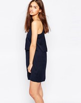 Minimum Cami Dress With Ruffle Overlay