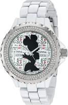 Disney Women's 'Minnie Mouse' Quartz Metal and Alloy Automatic Watch, Color: (Model: W002804)
