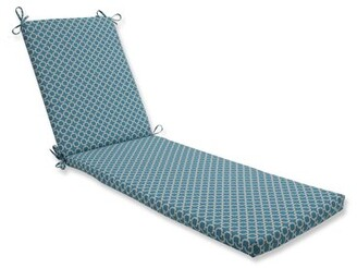 Ivy Bronx Indoor/Outdoor Chaise Lounge Cushion Fabric: Blue