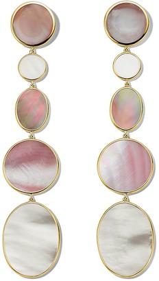 Ippolita 18kt Gold Extra Long Mixed Shape Earrings