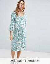 Mama Licious Mama.licious Mamalicious Floral Printed Woven Tea Dress