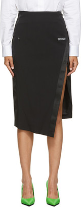 Off-White Black Side Split Skirt