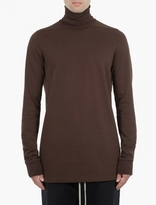 Rick Owens Brown Roll-Neck Sweatshirt