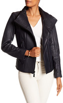 Vince Camuto Trapunto Genuine Leather Jacket
