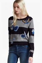 French Connection RSVP Argento Embroidered Patch Jumper