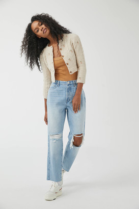 BDG High-Waisted Slim Straight Jean Ripped Light Wash