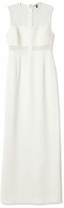 Halston Women's Sleeveless High-Neck Gown with Strip Detail
