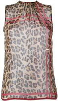 DSQUARED2 leopard print top - women - Silk - 44