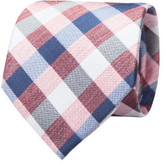 Geoffrey Beene Textured Check Tie