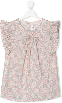 Bonpoint TEEN Lune floral print blouse