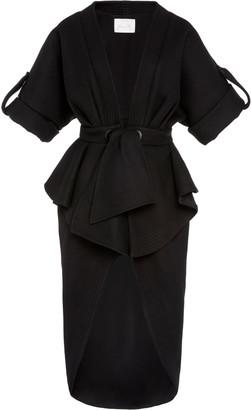 Johanna Ortiz Glorious Finding Wool-Blend Crepe Peplum Midi Dress