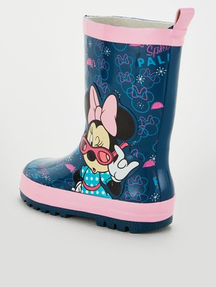 Toddler Girls Minnie Mouse Wellies - Pink/Blue