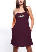 No Name Maroon Louisiana-Monroe Warhawks Strapless Dress - Women