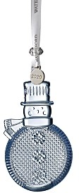 Waterford Topaz Ice Crystal Snowman Ornament