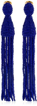 Oscar de la Renta Long Beaded Tassel Earrings