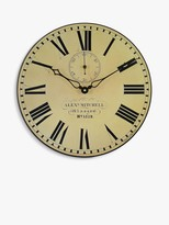Lascelles Glasgow Station Wall Clock, Dia.36cm, Cream