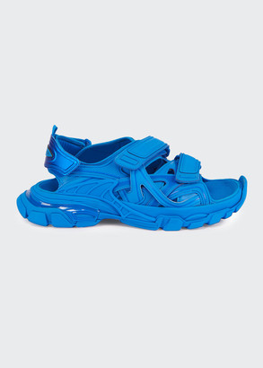 Balenciaga Men's Track Tonal Grip-Strap Sandals