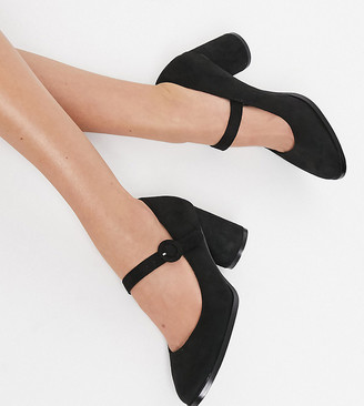 Simply Be Jennifer extra wide fit mary jane heel in black