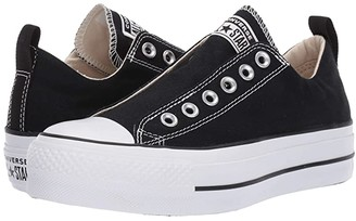 Converse Chuck Taylor(r) All Star(r) Lift Slip Ox (Black/White/Black) Women's Shoes