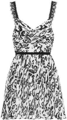 Self-Portrait Animal-print mini dress