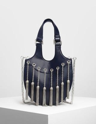 Charles & Keith Tassel Detail Hobo Bag
