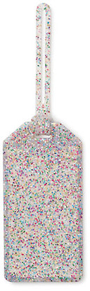Kate Spade Rainbow Glitter Luggage Tag - Clear