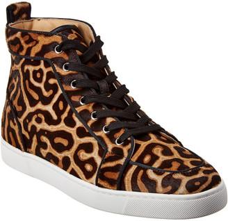 Christian Louboutin Rantus Orlato Haircalf High-Top Sneaker