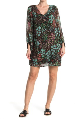 Vanity Room Floral Balloon Sleeve Shift Dress