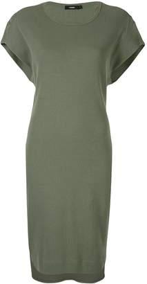 Bassike rib tapered tank dress
