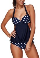 American Trends Women Halter Lined Up Push Up Double Up Tankini Top Beachwear