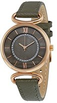 Anne Klein Women's AK/2192RGTP Glitter-Accented Rose Gold-Tone Watch With Synthetic Taupe Strap