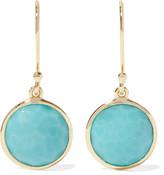 Ippolita Rock Candy® Mini Lollipop 18-karat Gold Turquoise Earrings - one size