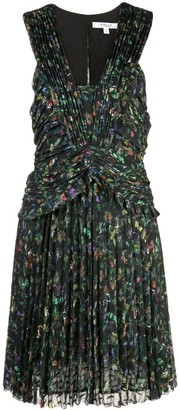 Derek Lam 10 Crosby Ruched Pleated Richter Floral Mini Dress
