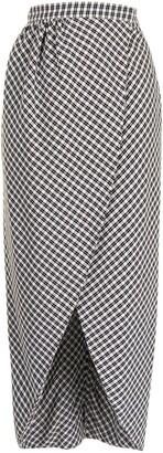 Altuzarra High-Waisted Check-Print Skirt