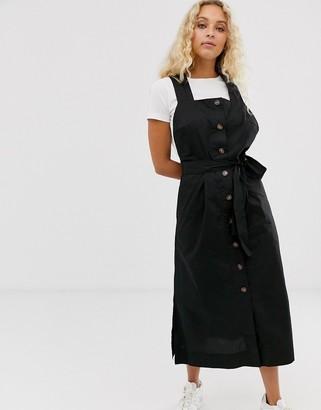 InWear flew button down midi dress in black