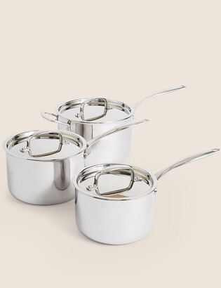 Marks and Spencer 3 Piece Tri Ply Pan Set
