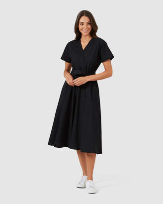 French Connection Cross Front Midi Dress