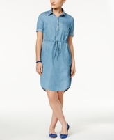 Lee Platinum Lee Platinum Petite Chambray Shirtdress, A Macy's Exclusive