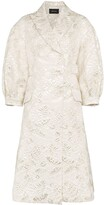 Simone Rocha Leaf Embroidered Cotton Coat