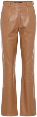 ZEYNEP ARCAY High-rise leather pants